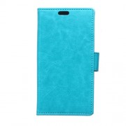 Crazy Horse Leather Wallet Case Cover for Microsoft Lumia 540 Dual Sim - Blue