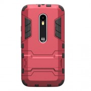 Kickstand PC TPU Hybrid Cover for Motorola Moto G 3rd Gen XT1541 XT1543 - Red