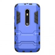 Kickstand PC TPU Combo Case for Motorola Moto G 3rd Gen XT1541 XT1543 - Light Blue