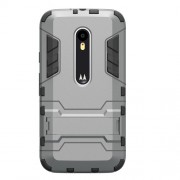 Kickstand PC TPU Hybrid Case for Motorola Moto G 3rd Gen XT1541 XT1543 - Grey