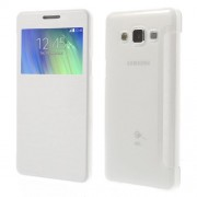Δερμάτινη Θήκη Βιβλίο Smart Cover για Samsung Galaxy A5 SM-A500F - Λευκό