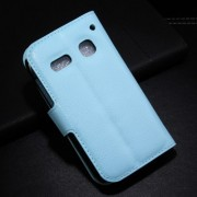 Blue Lychee Magnetic Stand Leather Wallet Shell for Alcatel One Touch Pop C3 4033A 4033D 4033X