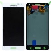 Γνήσια Samsung Οθόνη LCD και Μηχανισμός Αφής για Samsung Galaxy Alpha SM-G850F - Λευκό (GH97-16386D)
