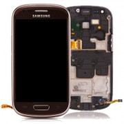 Original Samsung LCD Screen + Digitizer Touch Screen for Galaxy S3 Mini i8190 - Brown (GH97-14204E)