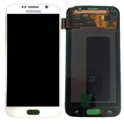 Original Samsung LCD + Digitizer Touch Screen for Samsung Galaxy S6 SM-G920F - White (GH97-17260B)