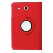 Litchi Grain Rotary Stand Leather Cover for Samsung Galaxy Tab E 9,6 T560 / T561 - Red