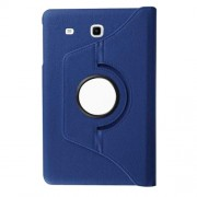 Litchi Texture Rotary Stand Leather Cover for Samsung Galaxy Tab E 9.6 T560 / T561 - Dark Blue