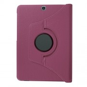 For Samsung Galaxy Tab S2 9.7 T810 T815 Lychee Grain Leather Rotary Stand Cover - Purple