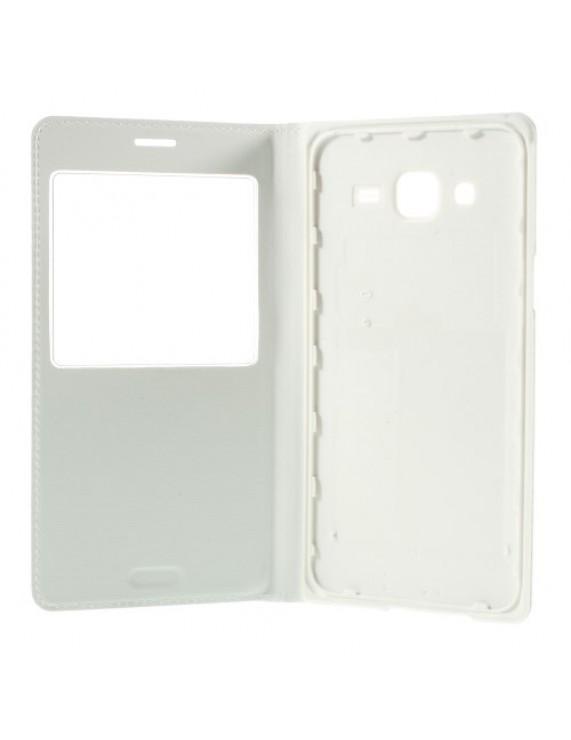 cfd94bb503 Δερμάτινη Θήκη Βιβλίο Smart Cover με Ενσωματωμένο Καπάκι Μπαταρίας για Samsung  Galaxy J5 SM-J500F - Λευκό (50003670) by stoucky.gr