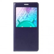View Window for Samsung Galaxy J5 SM-J500F Leather Flip Battery Housing Cover - Blue