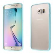 Θήκη Σιλικόνης TPU με Διάφανη Σκληρή Πλάτη για Samsung Galaxy S6 Edge G925 - Μπλε