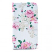 Aesthetic Blooming Peony Stand Leather Wallet Case for Samsung Galaxy S3 I9300