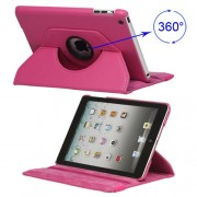 360 Degree Rotary Leather Case Cover for iPad Mini - Rose