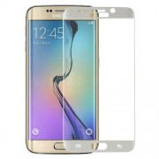 0.3mm Tempered Glass Screen Protector Guard Film for Samsung Galaxy S6 Edge Plus G928 Silk Print Complete Covering - White
