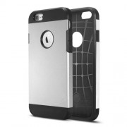 2 in 1 Durable Armor PC + TPU Combo Case for iPhone 6 Plus / 6s Plus 5.5 inch - Silver