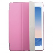 Rose for iPad Air 2 Tri-fold Single Front Smart Leather Cover + Back Plastic Shell