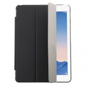 Black Tri-fold Leather Single Front Smart Cover + Back PC Case for iPad Air 2
