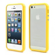 Stylish PC and TPU Bumper Hybrid Gel Case for iPhone 5s 5 - Yellow