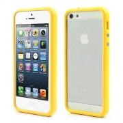 Θήκη Bumper Σιλικόνης TPU και Πλαστικό για iPhone 5 5s - Κίτρινο