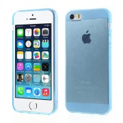 Transparent for iPhone 5 5s Soft TPU Protector Shell - Blue