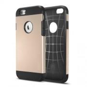 Θήκη Σιλικόνης TPU με Σκληρή Πλάτη με Ανάγλυφο Σχέδιο στο Εσωτερικό για iPhone 6 / 6s - Χρυσαφί