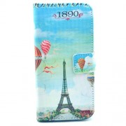 Eiffel Tower and Hot Balloon Stand Folio PU Leather Protective Shell for iPhone 6s 6 4.7 inch