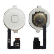 Πλήκτρο Home με Καλωδιοταινία και PCB Μεμβράνη για iPhone 4 - Λευκό