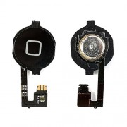 Πλήκτρο Home με Καλωδιοταινία και PCB Μεμβράνη για iPhone 4 - Μαύρο