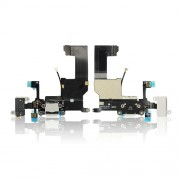 Charging Port Dock Connector Earphone Jack Flex Cable For iPhone 5 - White
