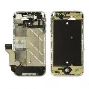 Ενδιάμεσο Μεταλλικό Πλαίσιο με Όλα τα Πλήκτρα και τις Καλωδιοταινίες για iPhone 4S - Ασημί