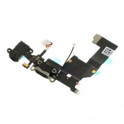 For iPhone 5 Charging Port Dock Connector Earphone Jack Flex Cable (OEM, not brand new) - Black