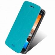 MOFI Rui Series Smart Leather Stand Cover for Lenovo Vibe X S960 - Blue
