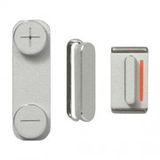 3 in 1 Complete Side Buttons Set for iPhone 5 (Power + Volume + Mute Switch) - Silver