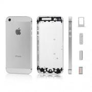 Καπάκι Μπαταρίας με Ενδιάμεσο Πλαίσιο και όλα τα Πλαϊνά Πλήκτρα και Βάση Κάρτας SIM για iPhone 5 - Λευκό/Ασημί