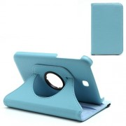 For Samsung Galaxy Tab 3 7.0 P3200 P3210 360 Degree Rotary Stand Leather Case - Blue