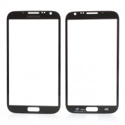 Front Outer Screen Glass Lens for Samsung Galaxy Note ii N7100 - Black