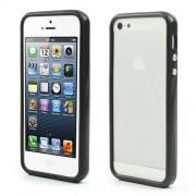Θήκη Bumper Σιλικόνης TPU και Πλαστικό για iPhone 5 5s - Μαύρο