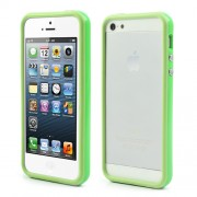 Stylish for iPhone 5 5s PC and TPU Hybrid Bumper Case - Green