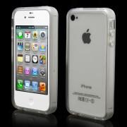 Θήκη Bumper Σιλικόνης TPU για iPhone 4 4S - Διάφανο