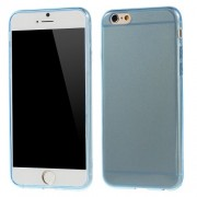 0,6mm Glossy Protective TPU Shell for iPhone 6 / 6s - Blue