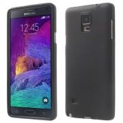 Matte TPU Gel Shield Case for Samsung Galaxy Note 4 N910 - Black