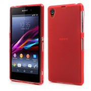 Double-sided Matte TPU Cover for Sony Xperia Z1 Honami C6903 C6906 C6902 C6943 L39h - Translucent Red