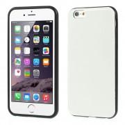 Θήκη Σιλικόνης TPU με Επένδυση Δέρματος Crazy Horse για iPhone 6 / 6s - Λευκό