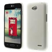 Θήκη Σιλικόνης TPU με Γυαλιστερά Άκρα για LG L90 D405 - Λευκό
