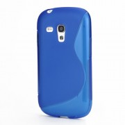S-Curve TPU Gel Case Cover for Samsung Galaxy S III / 3 Mini I8190 - Blue