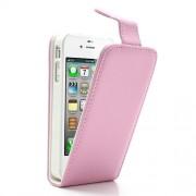 Δερμάτινη Θήκη Flip με Εσωτερικές Θήκη για Κάρτες για iPhone 4s 4 - Ροζ