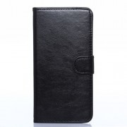 Crazy Horse Pattern for Samsung Galaxy Note 4 N910 Leather Wallet Case w/ Stand - Black