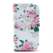 Aesthetic Blooming Peony Stand Leather Case for Samsung Galaxy S Duos 2 S7582 / Ace II X S7560M