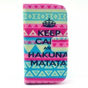 Keep Calm and Hakuna Matata Stand Leather Case for Samsung Galaxy S Duos S7562 / Trend S7560 / Ace II X S7560M
