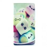 Δερμάτινη Θήκη Πορτοφόλι με Βάση Στήριξης για Sony Xperia M2 D2305 / M2 Dual D2302 - Ζαχαρωτά Marshmallows